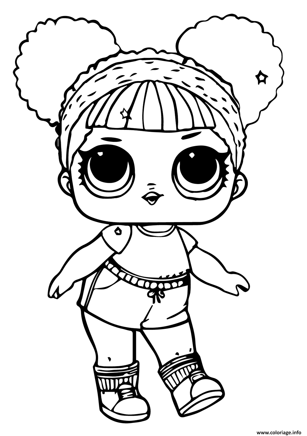 Coloriage lol doll hoops mvp glitter - JeColorie.com