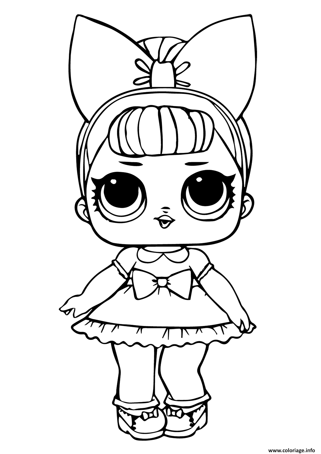 Coloriage Lol Doll Fancy Glitter Dessin à Imprimer