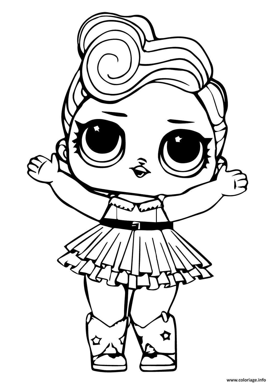 Coloriage Lol Doll Luxe dessin