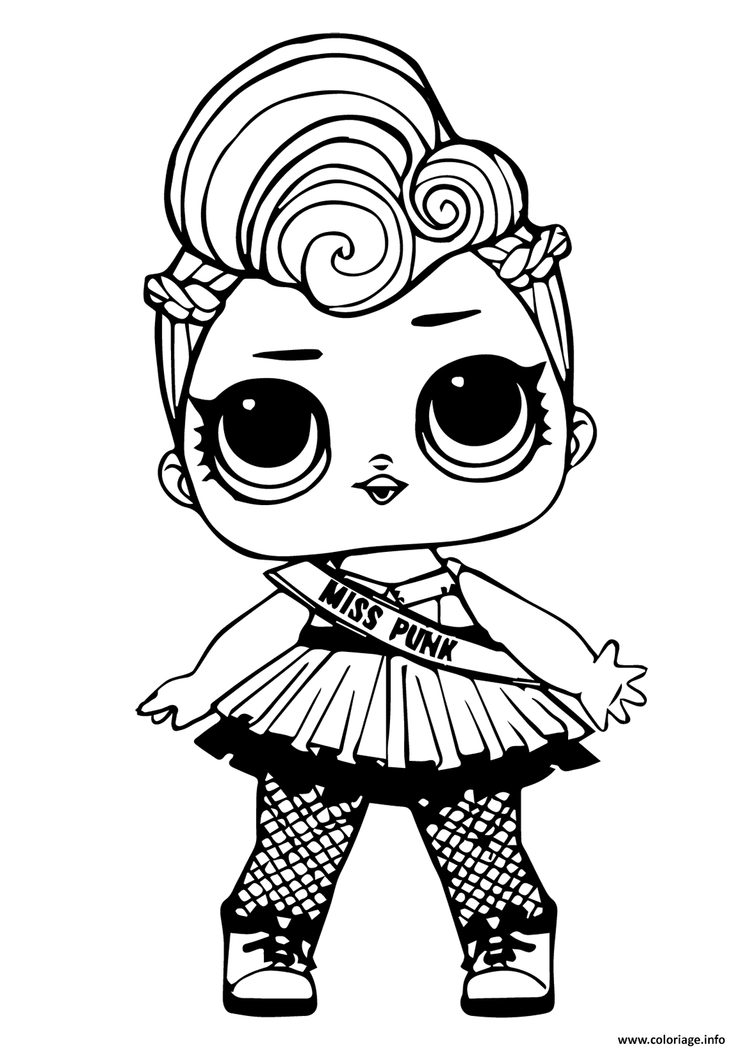 Coloriage Lol Doll Miss Punk Dessin à Imprimer