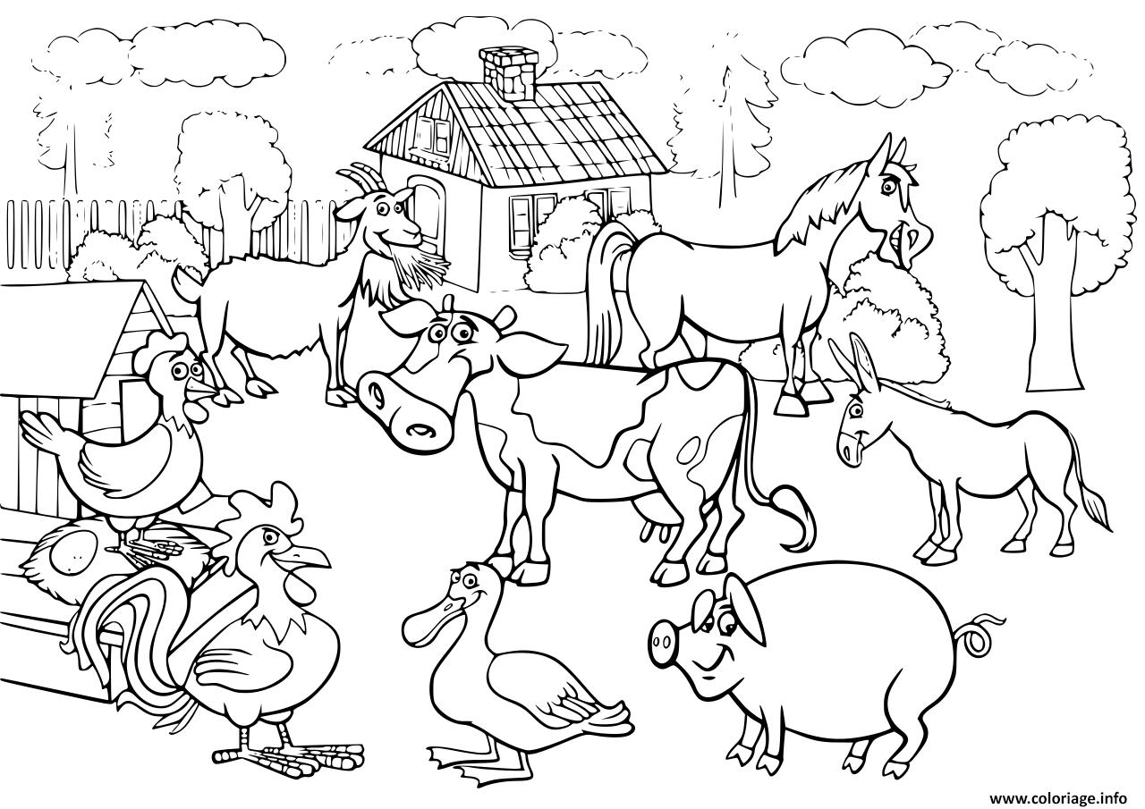 Coloriage Les Animaux De La Ferme Pour Enfants dessin