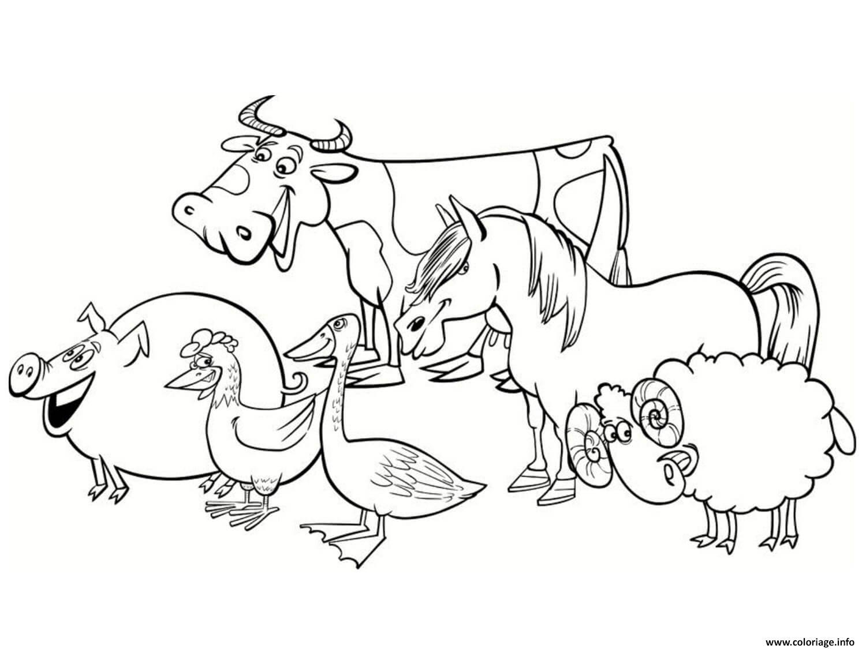 Coloriage Le Sourire Des Animaux De La Ferme dessin