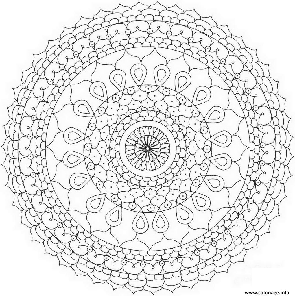 Dessin abstract mandala par Dora Alis Coloriage Gratuit à Imprimer