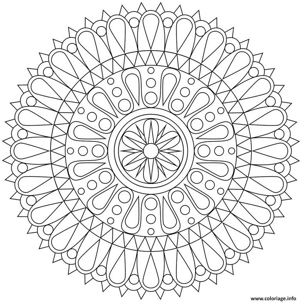 Dessin abstract mandala 4 par Dora Alis Coloriage Gratuit à Imprimer