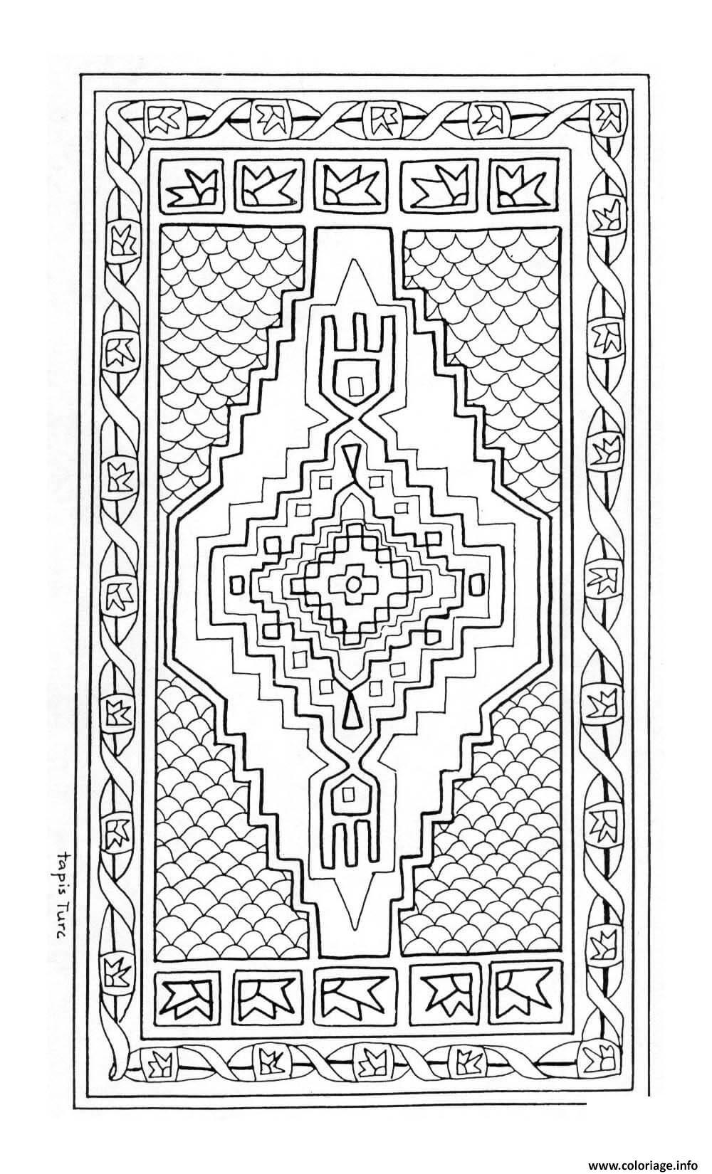 Coloriage Mandala Tapis Turc Joeke Remkus De Vries Dessin