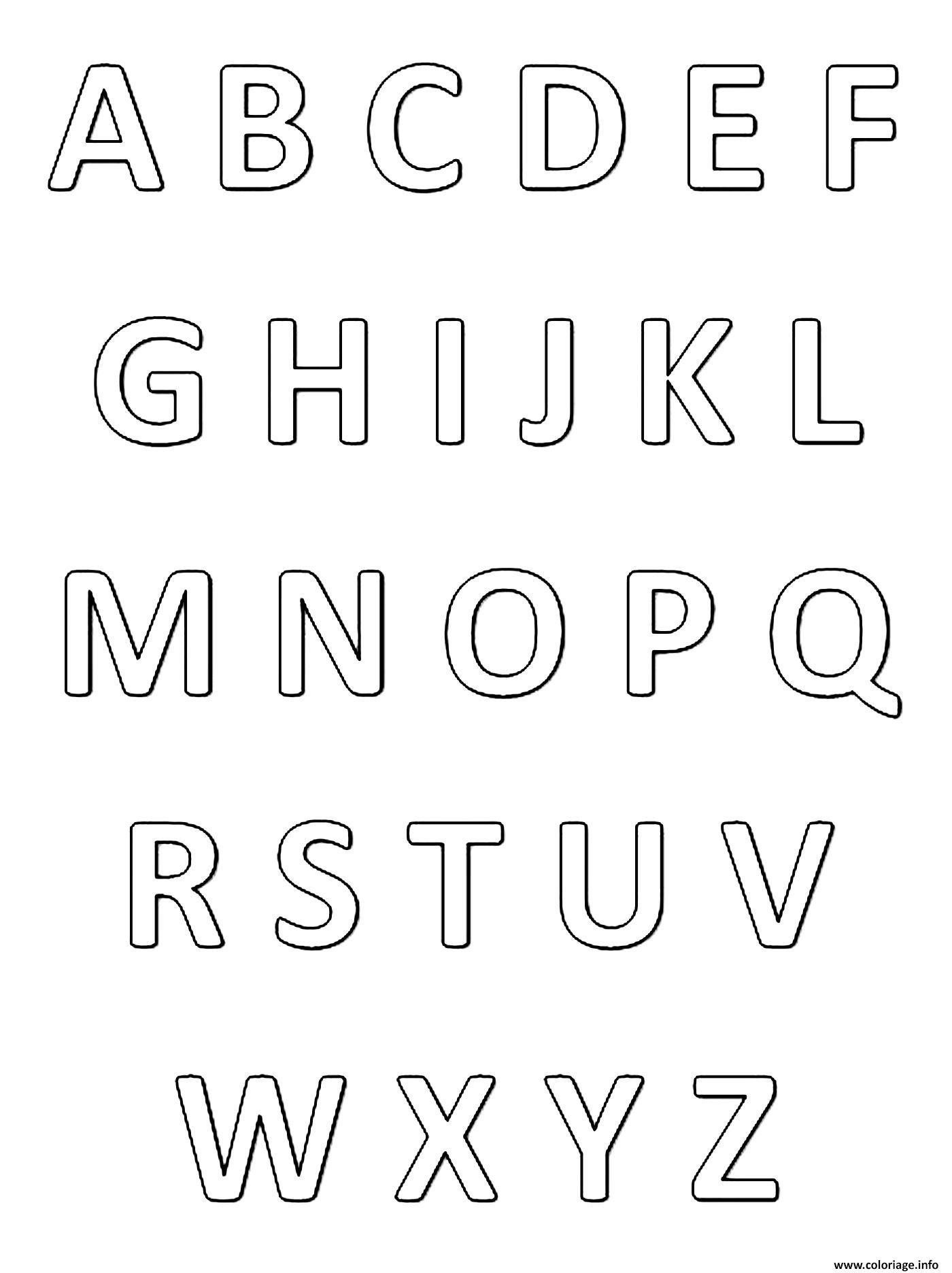 Coloriage Abecedaire Alphabet Et Lettres Francais Dessin Alphabet A Imprimer