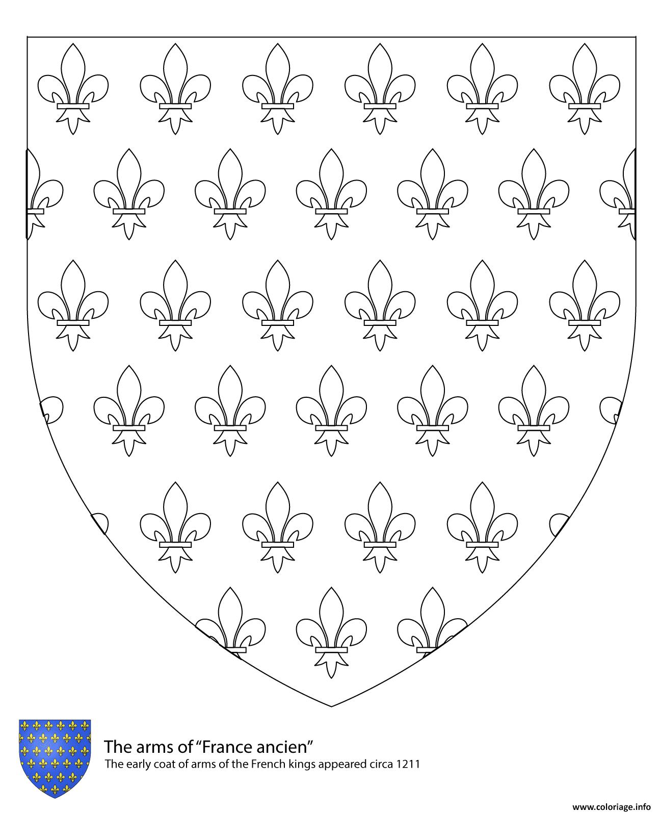 Dessin armoiries des rois de france Coloriage Gratuit à Imprimer