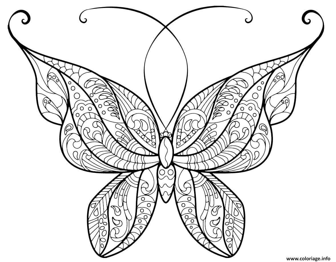 Coloriage Papillon Adulte Jolis Motifs 14 Jecolorie Com