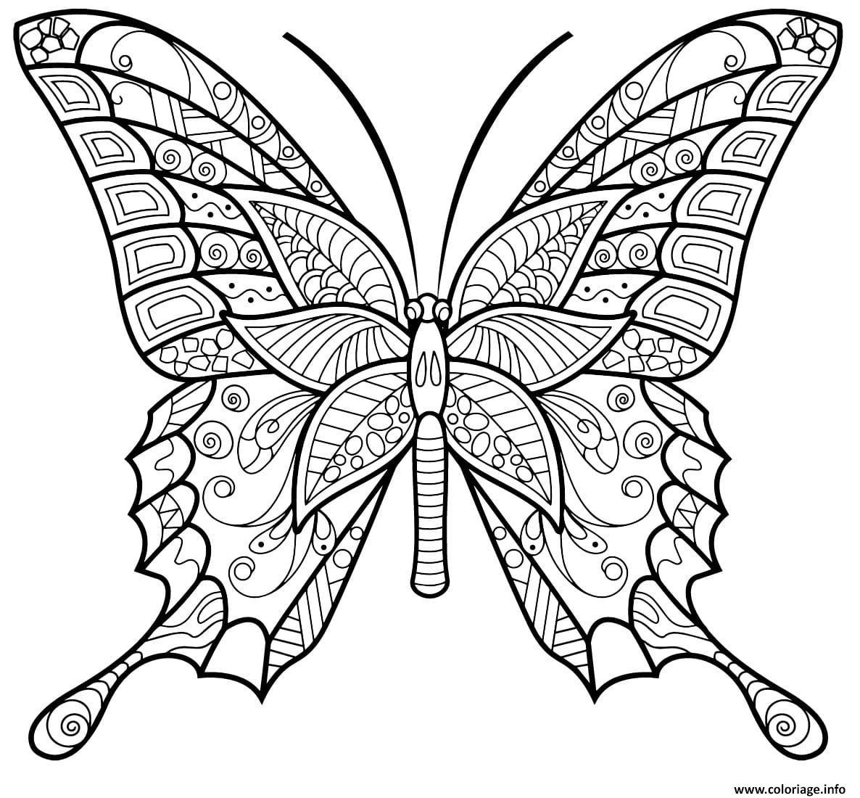 Dessin papillon insecte jolis motifs 6 Coloriage Gratuit à Imprimer
