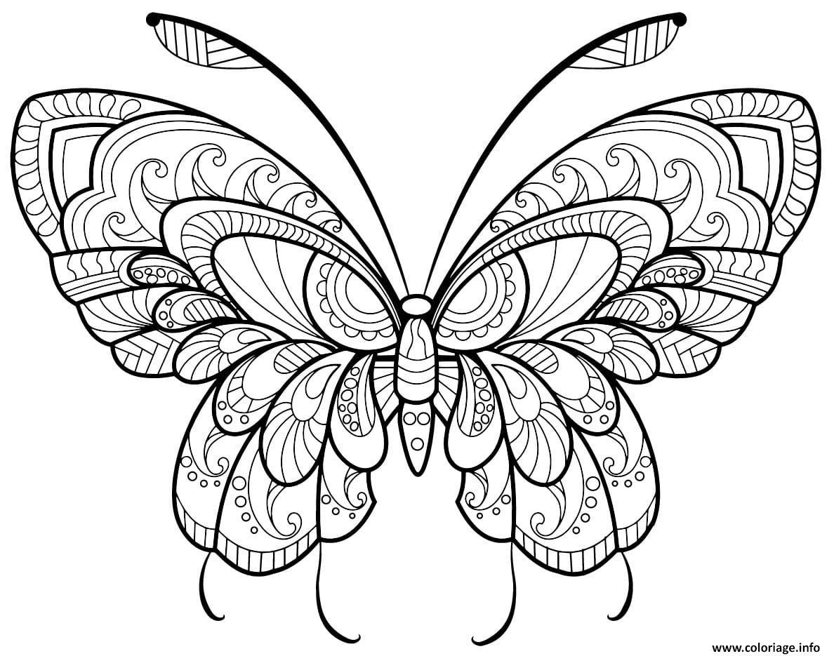 Coloriage Papillon Adulte Jolis Motifs 11 Jecolorie Com