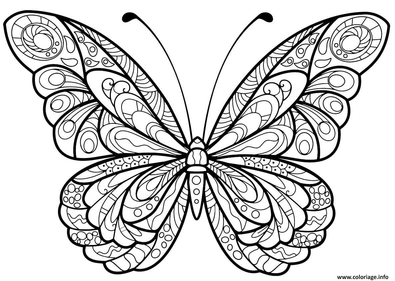 Coloriage Papillon Jolis Motifs 5 Jecolorie Com