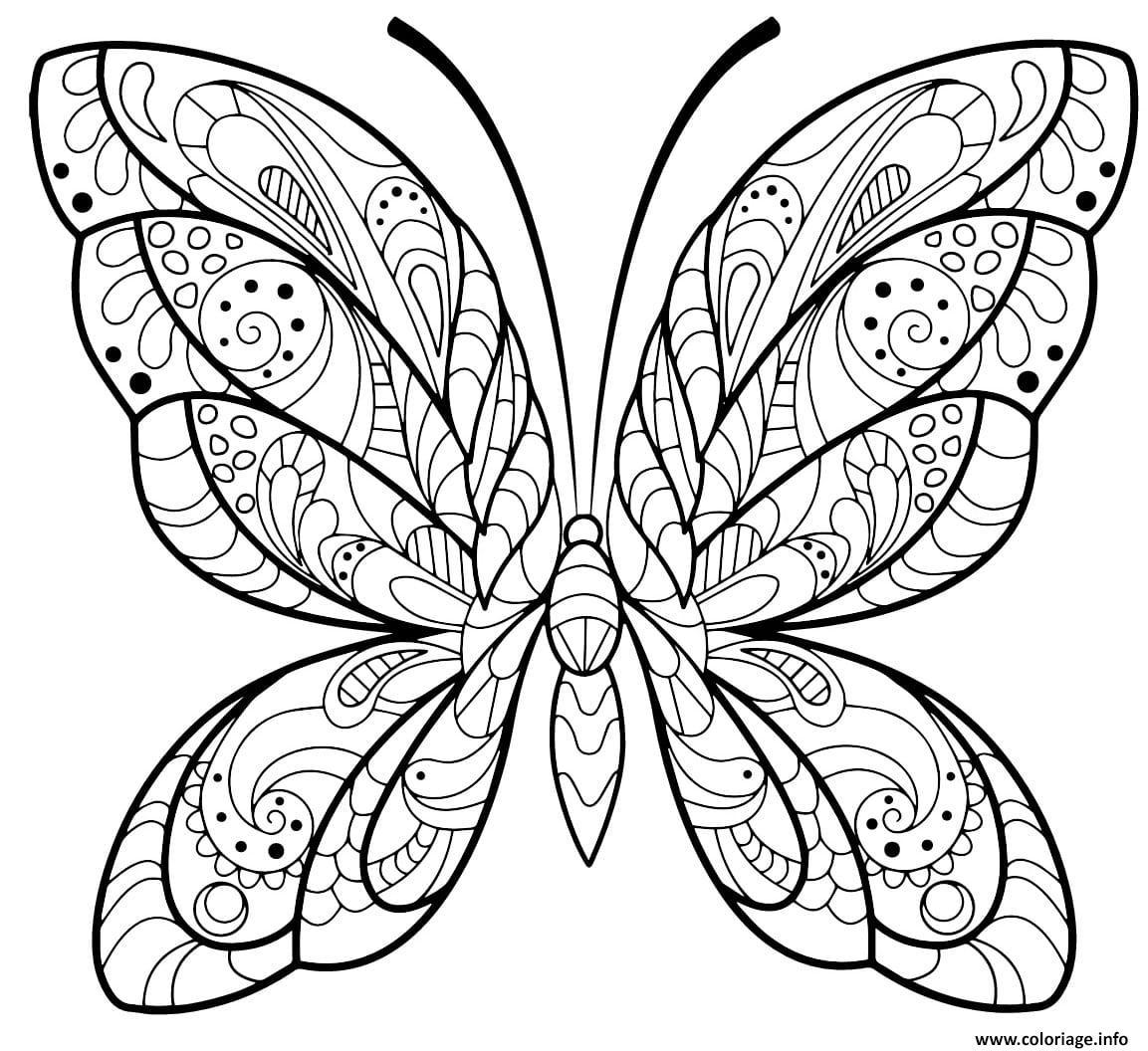 Coloriage Papillon Jolis Motifs 2 Jecolorie Com