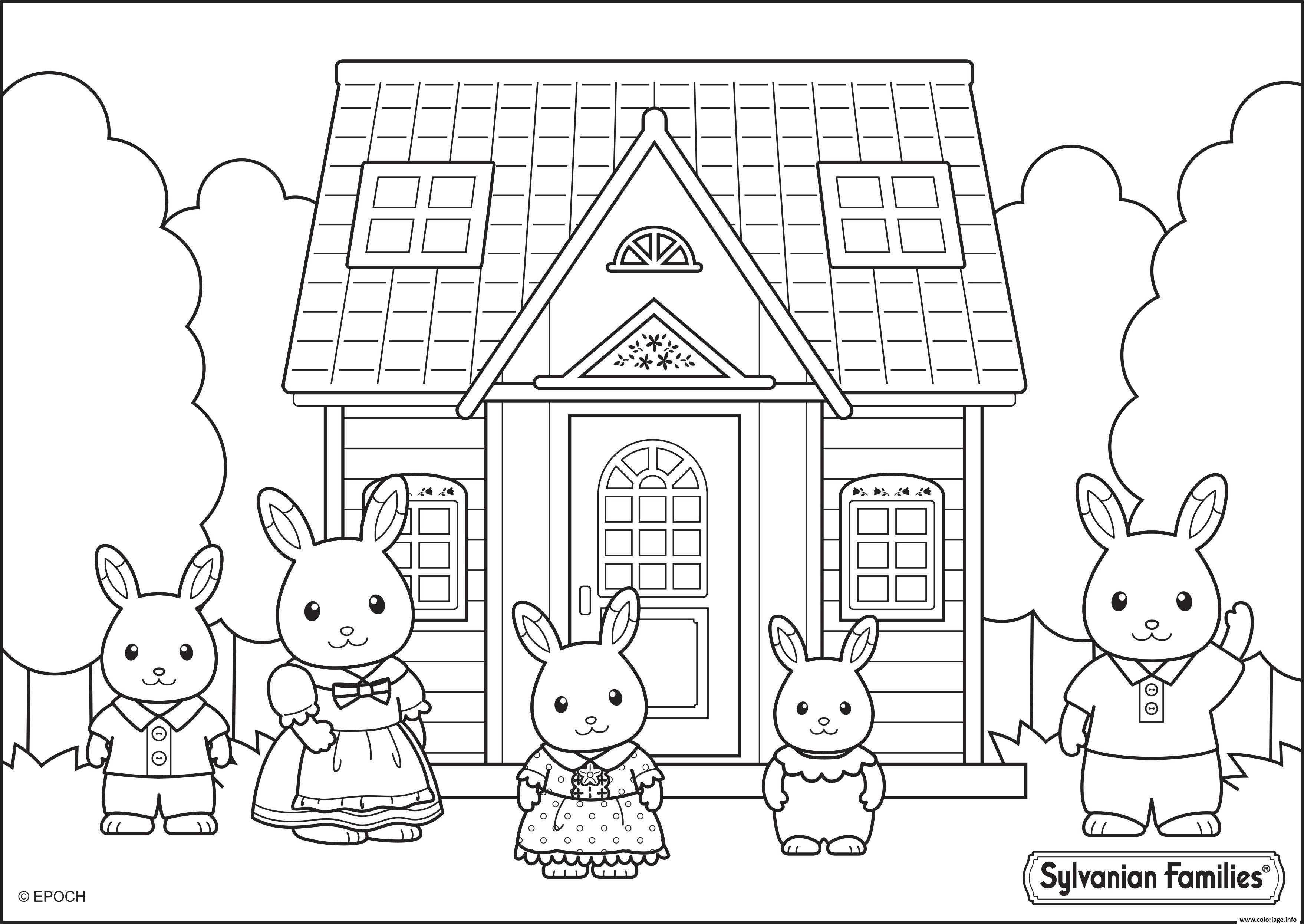 Dessin maison sylvanian families Coloriage Gratuit à Imprimer