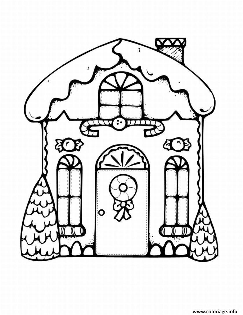 Dessin superbe maison de noel 25 decembre Coloriage Gratuit à Imprimer
