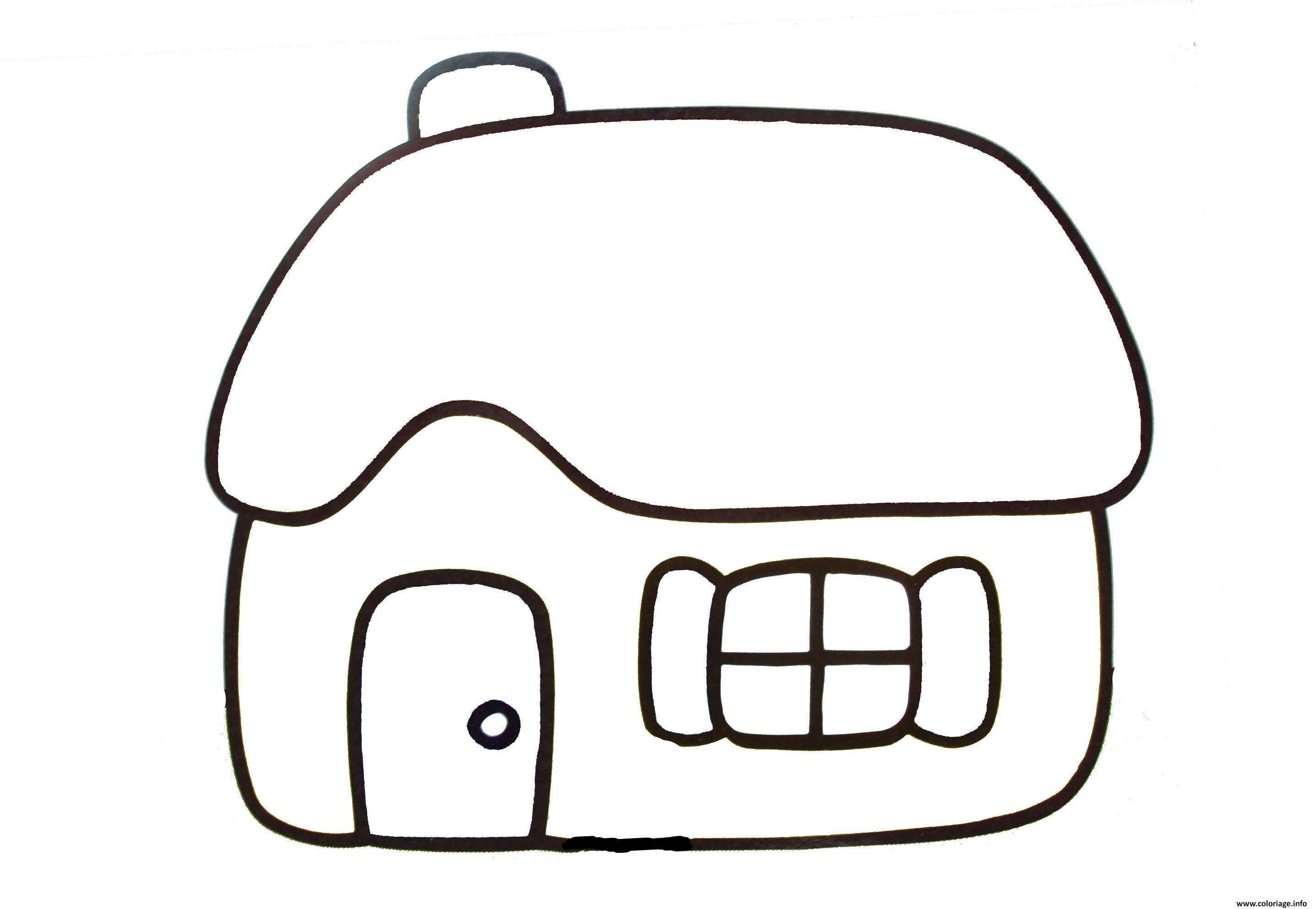 Dessin maison facile pour bebe simple Coloriage Gratuit à Imprimer