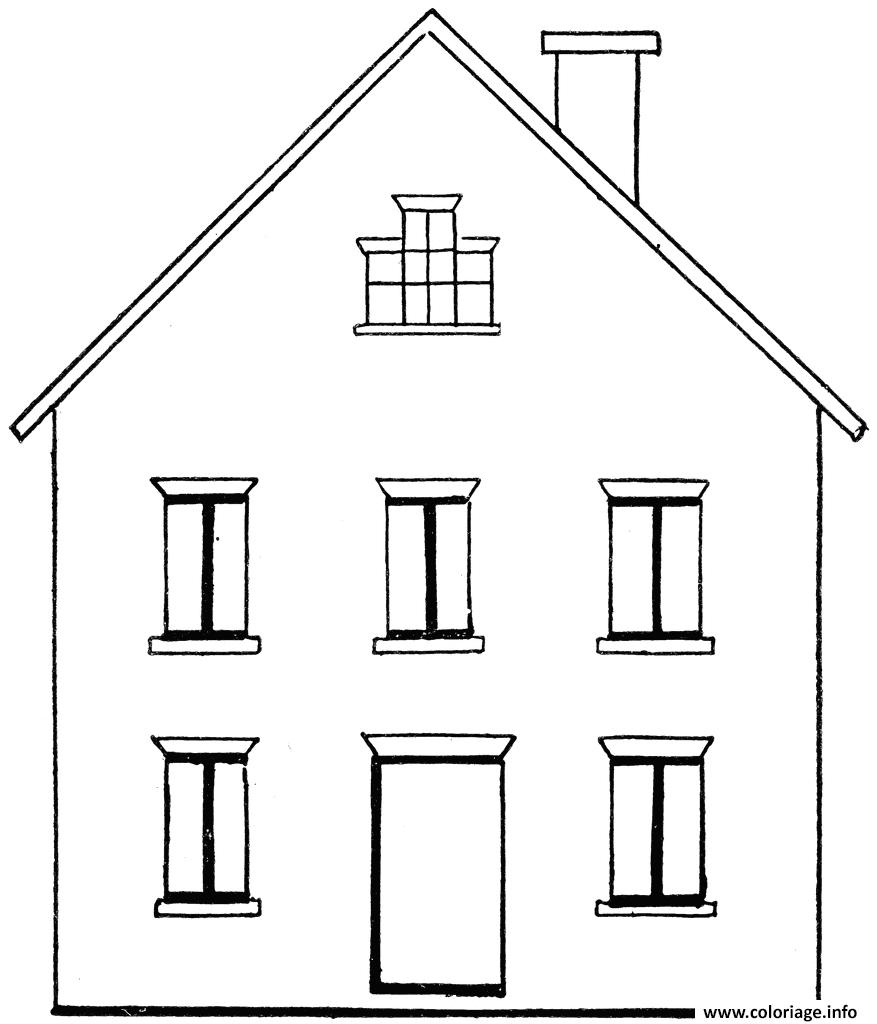 Coloriage Maison Batiments Architecture Jecoloriecom