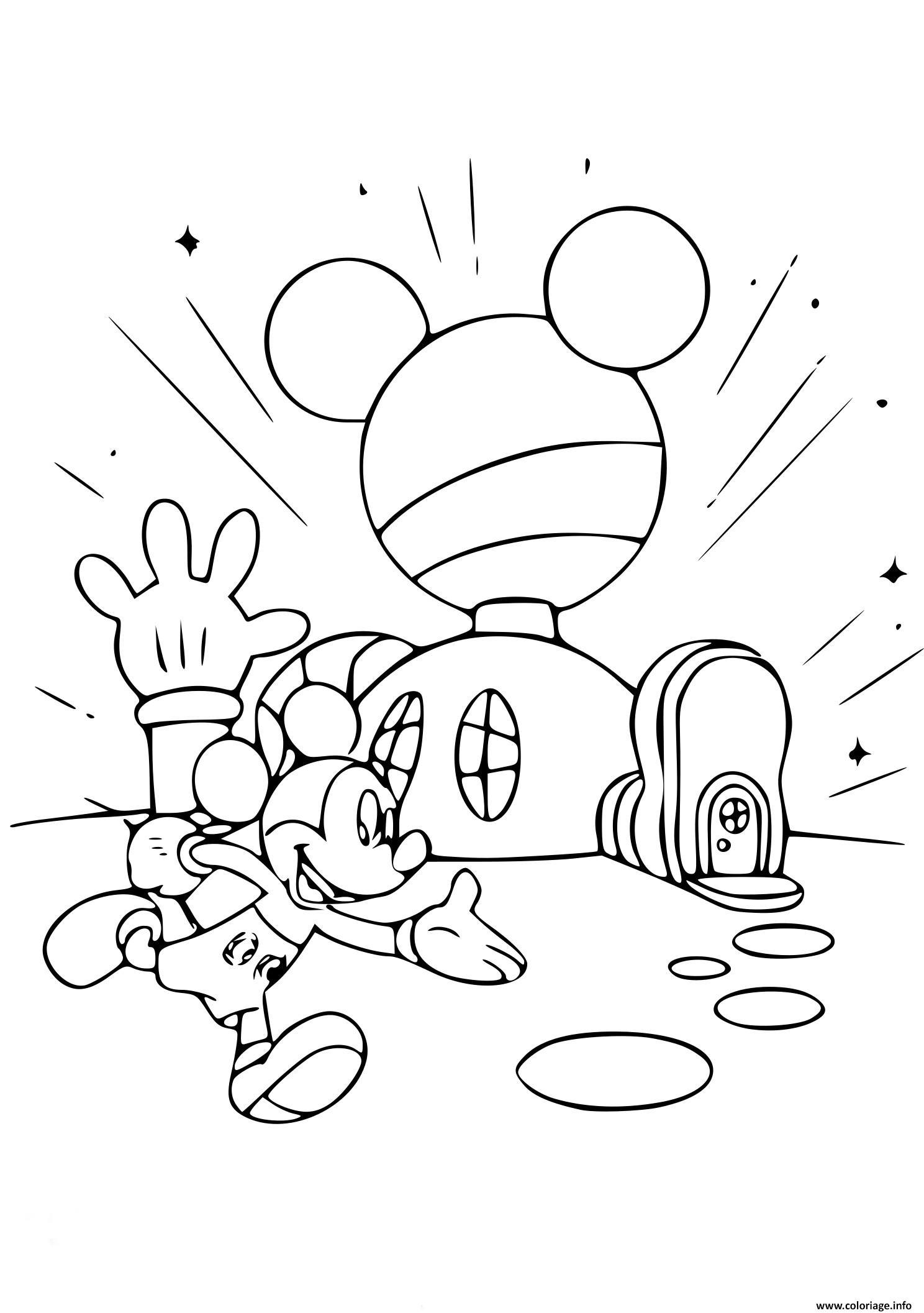Coloriage Maison De Mickey Dessin