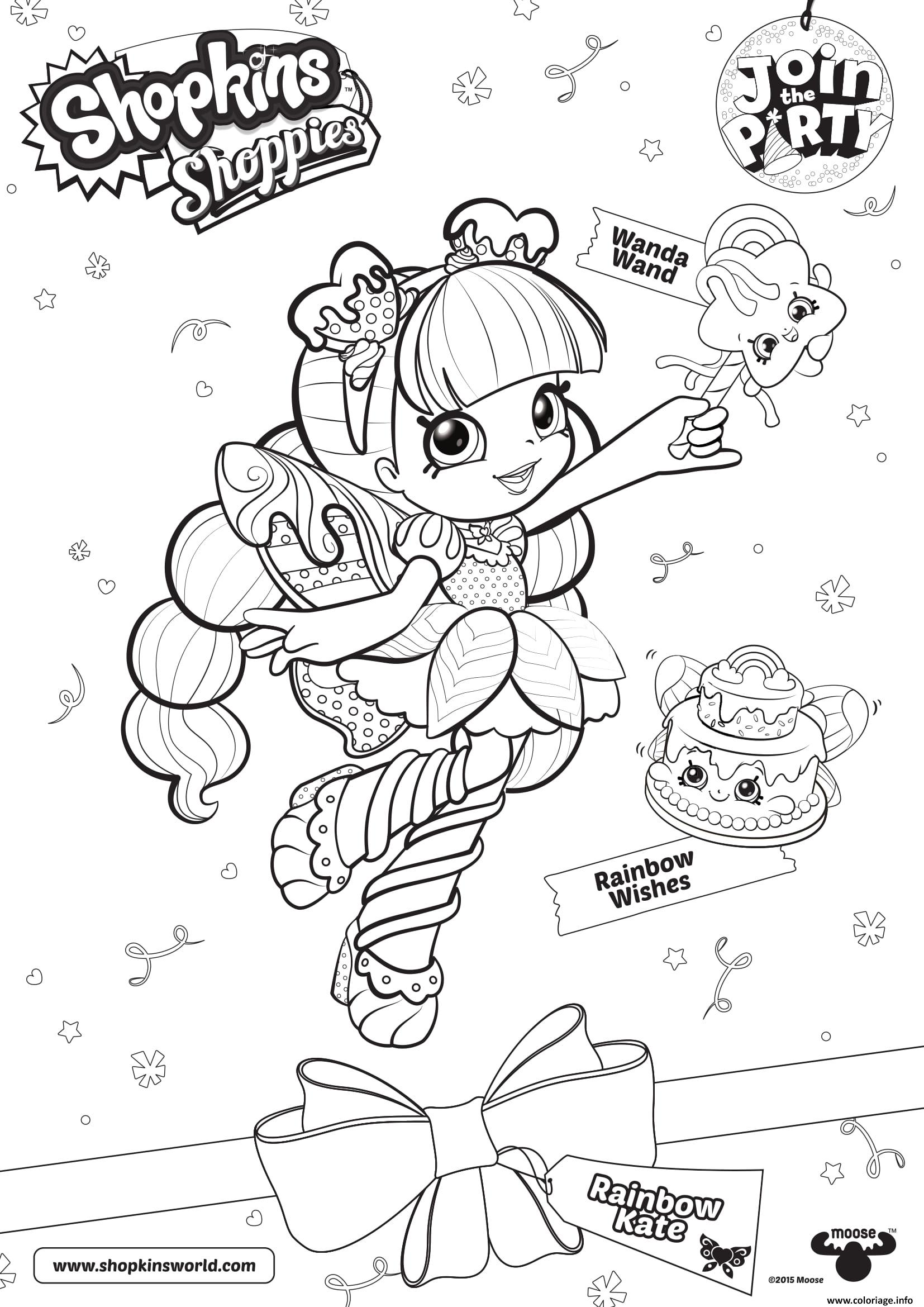 Coloriage Shopkins Doll Rainbow Kate Dessin à Imprimer