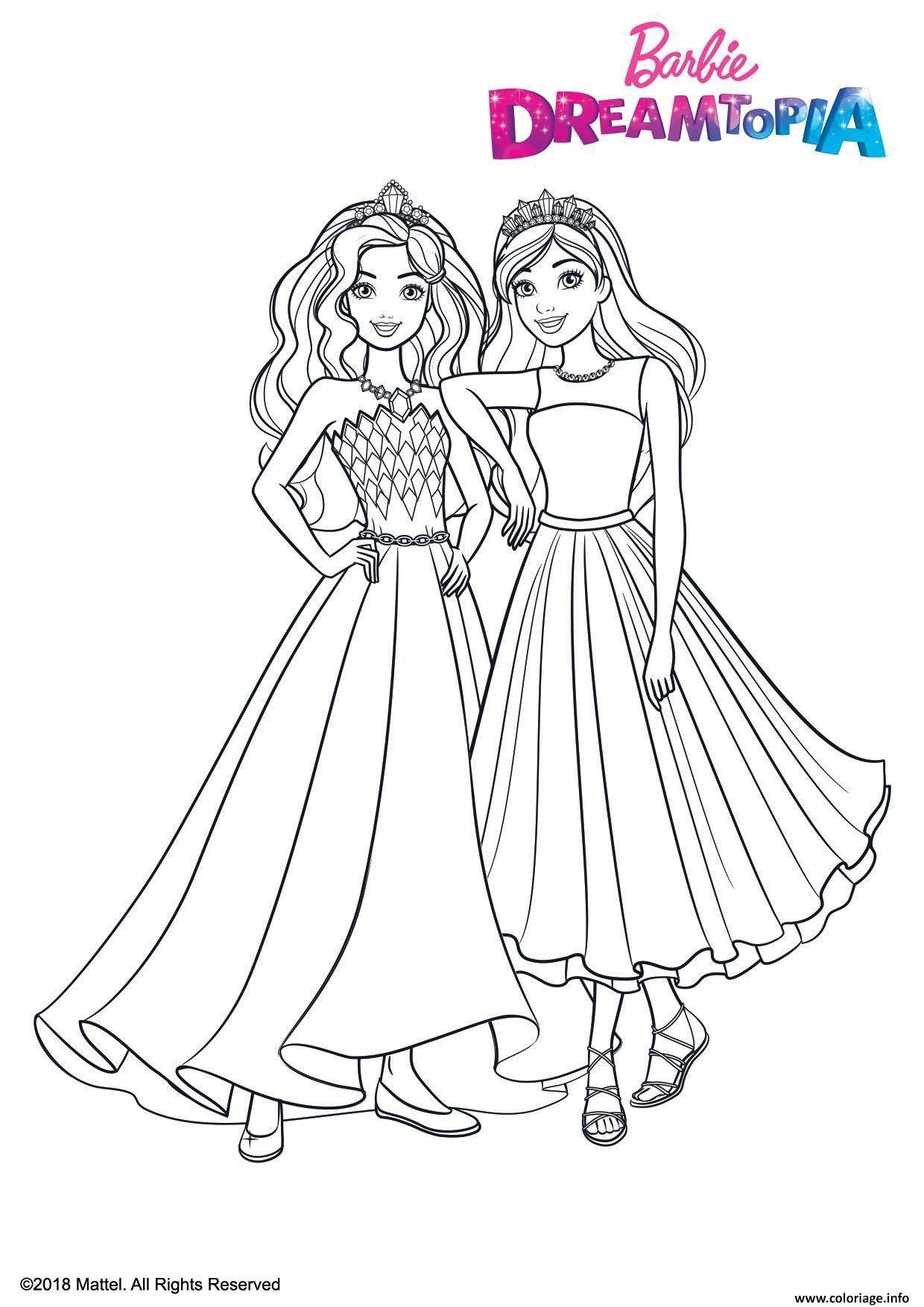 Coloriage Princesses Paillettes dessin