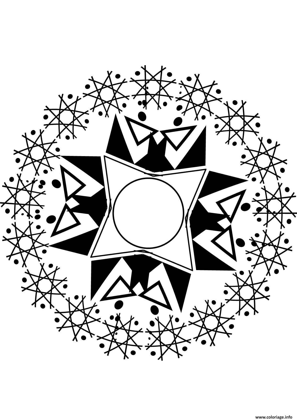 Coloriage Mandala Etoile dessin