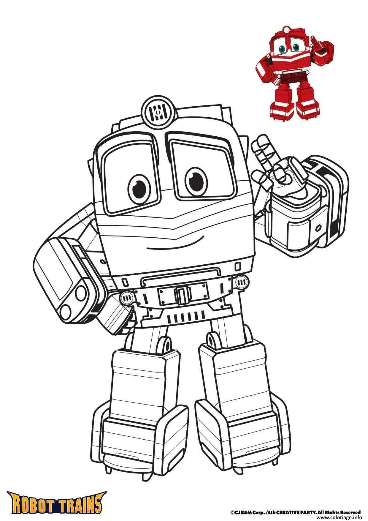 Coloriage Alf Robot Trains - JeColorie.com
