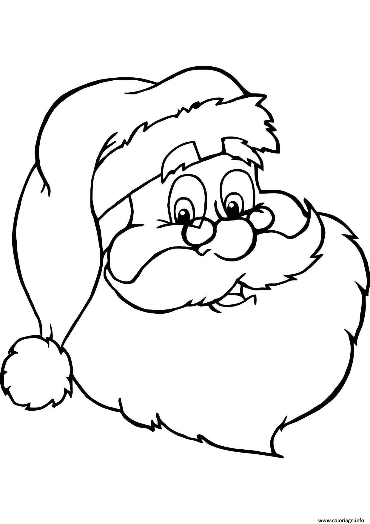 Coloriage Gulli Noel Le Portait Du Pere Noel dessin