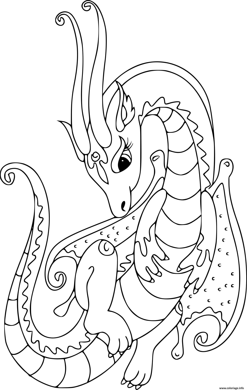 Coloriage Gulli Dragon Superbe dessin