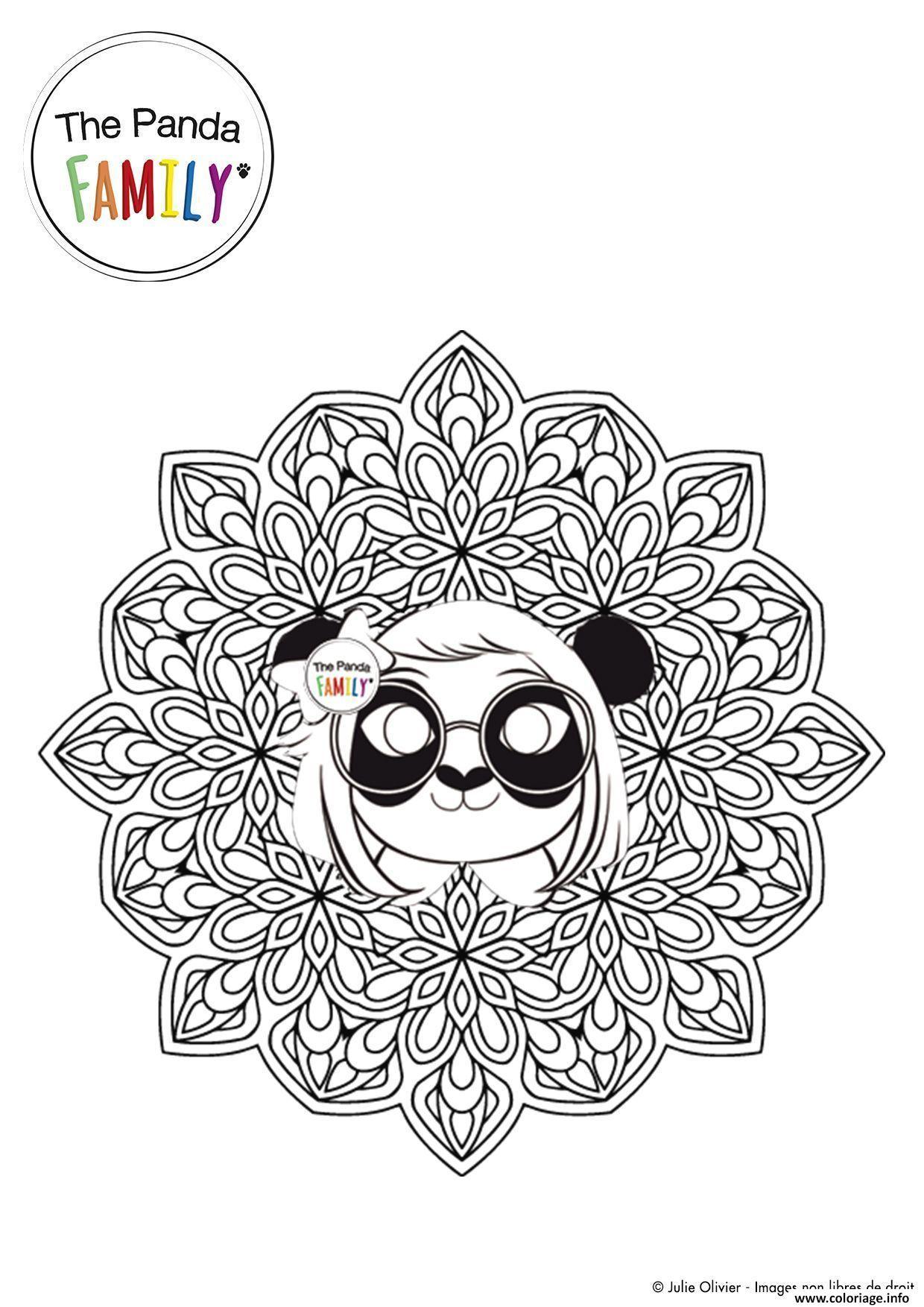 Coloriage Mandala Pandy Jecolorie Com
