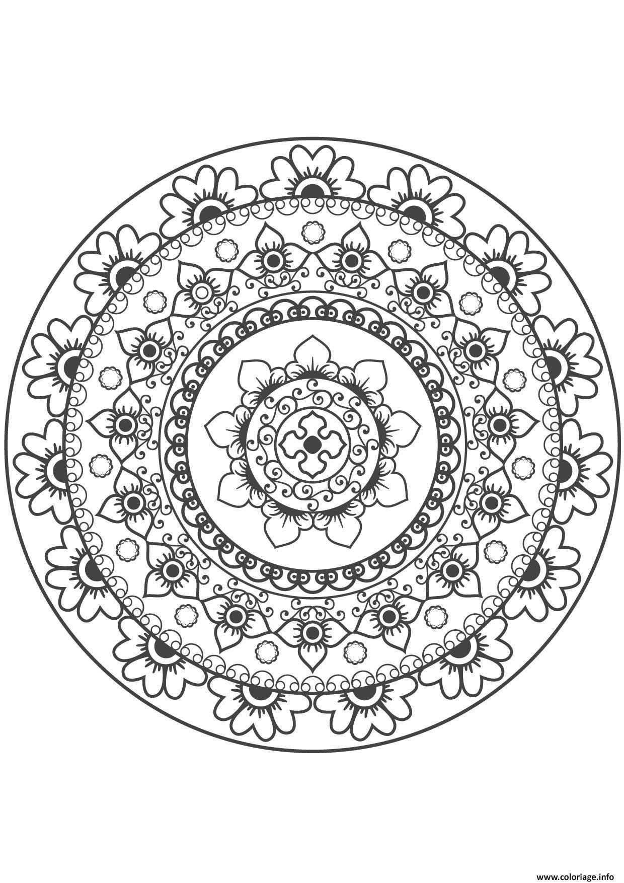 Coloriage Gulli Mandala Fleur 10 dessin