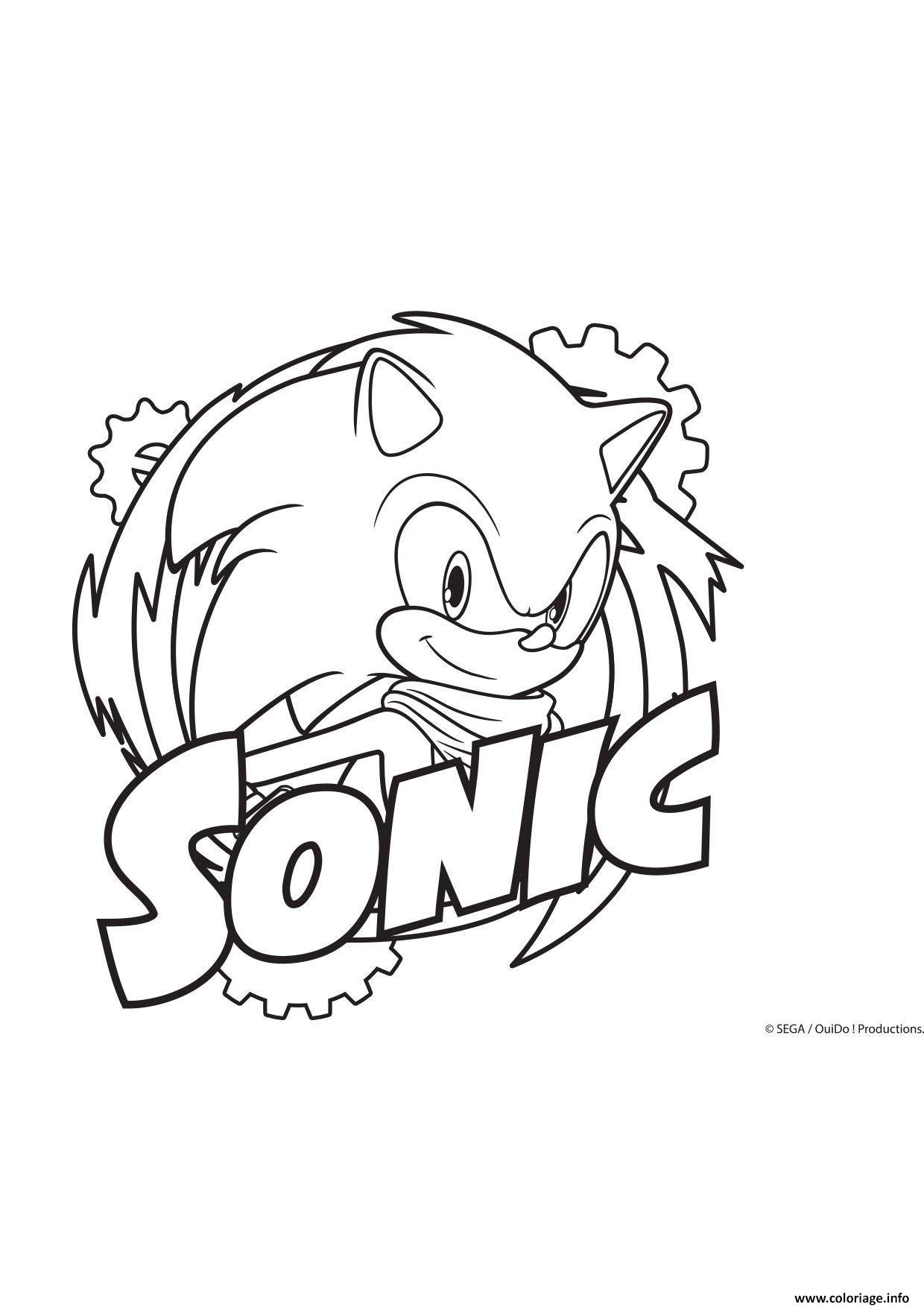 Coloriage Sonic Fun Dessin Gulli à imprimer
