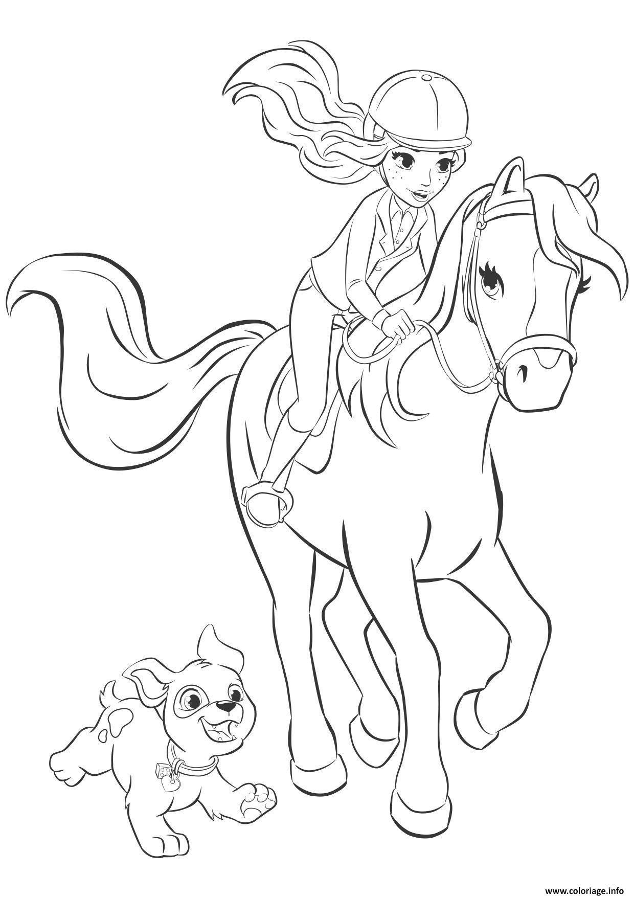 Coloriage friends mia cheval - JeColorie.com