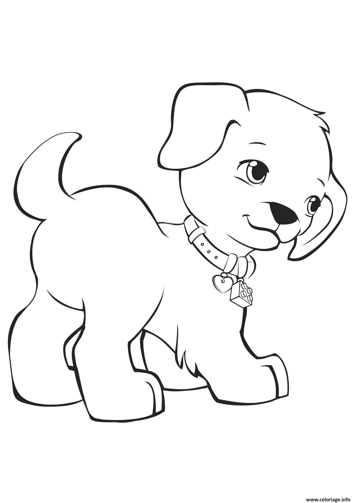 Coloriage Friends Chien Jecolorie Com