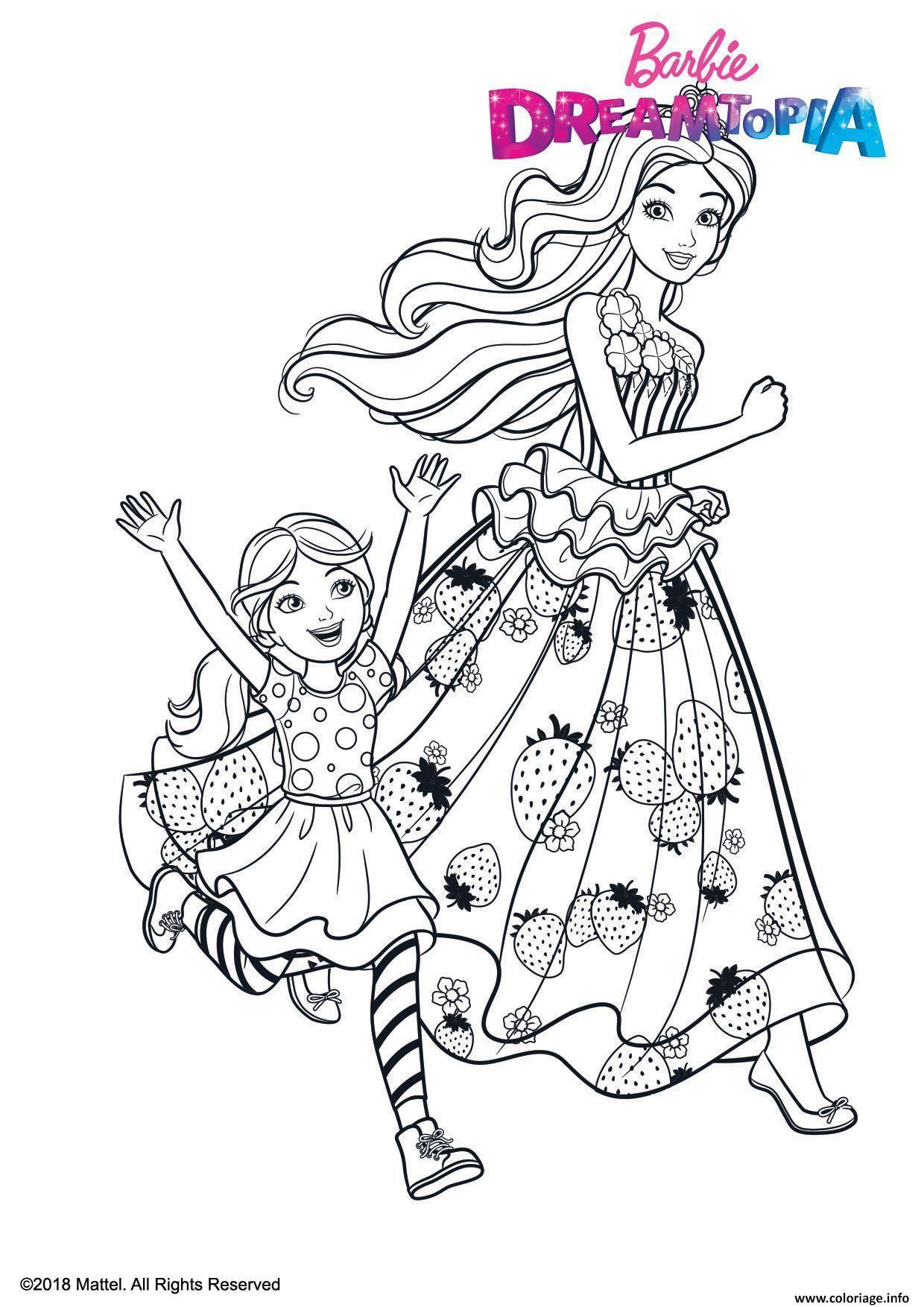 Coloriage Barbie et Chelsea au Royaume des Bonbons ...