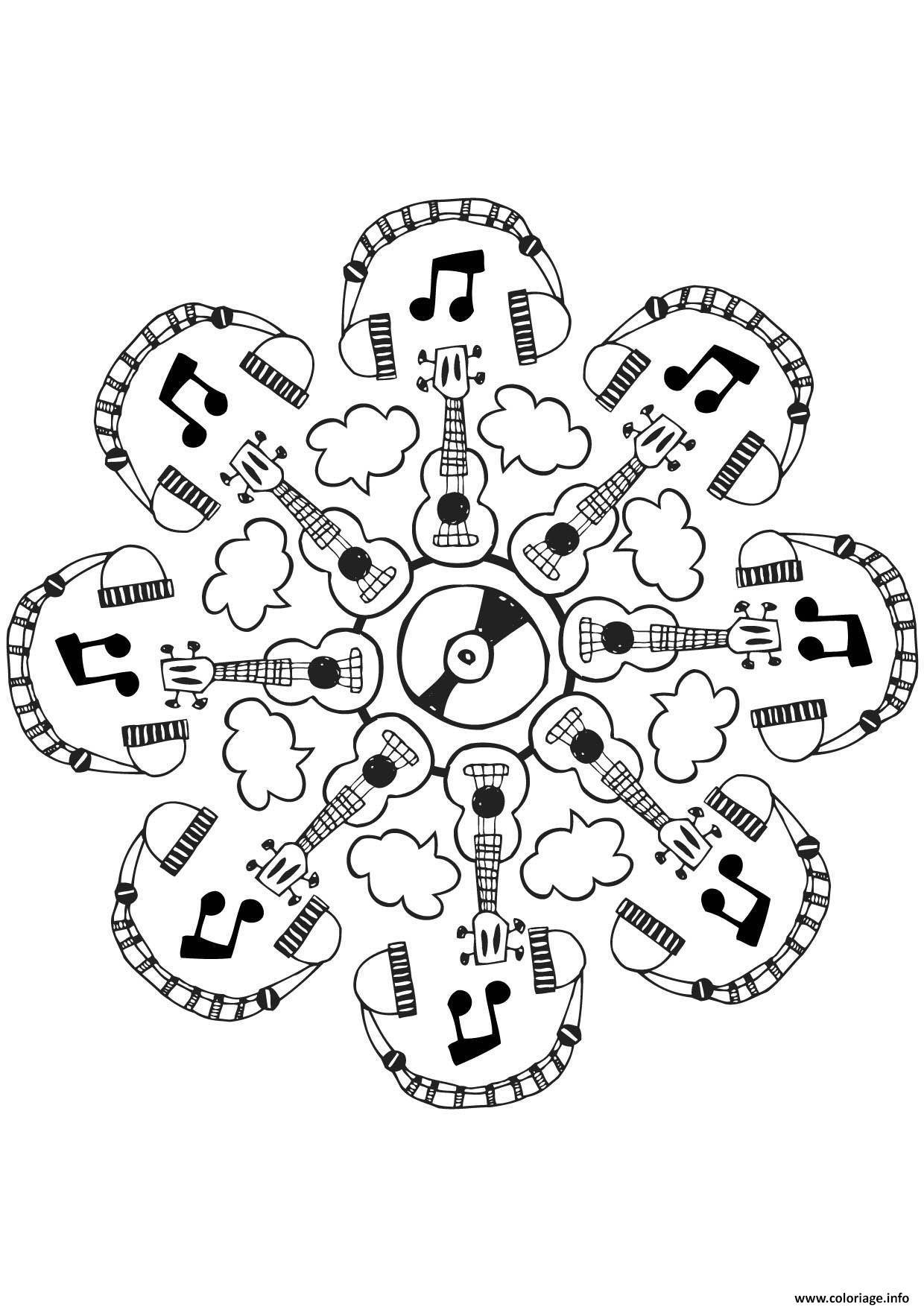 Coloriage Mandala Musique Dessin Gulli A Imprimer
