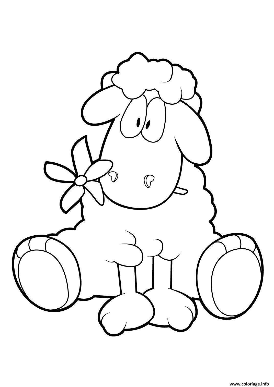 Coloriage Mouton 18 Dessin
