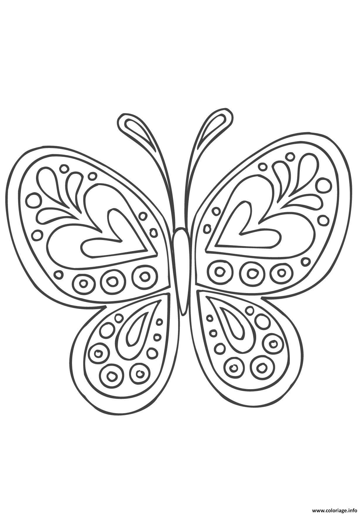 Coloriage Mandala Papillon Dessin