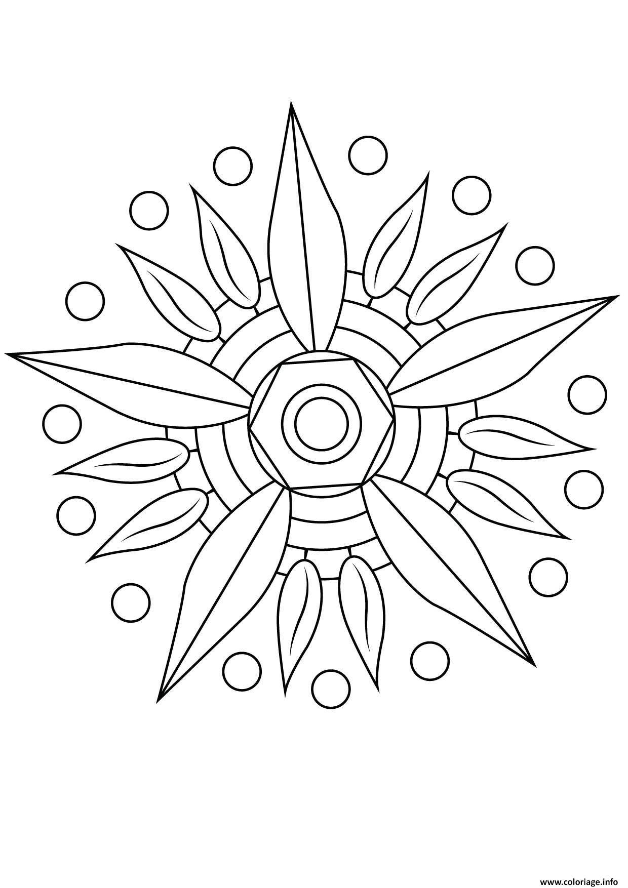Coloriage Mandala Fleur 12 Jecolorie Com