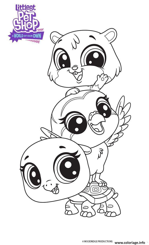 Coloriage Les meilleurs amis littlest Pet Shop - JeColorie.com