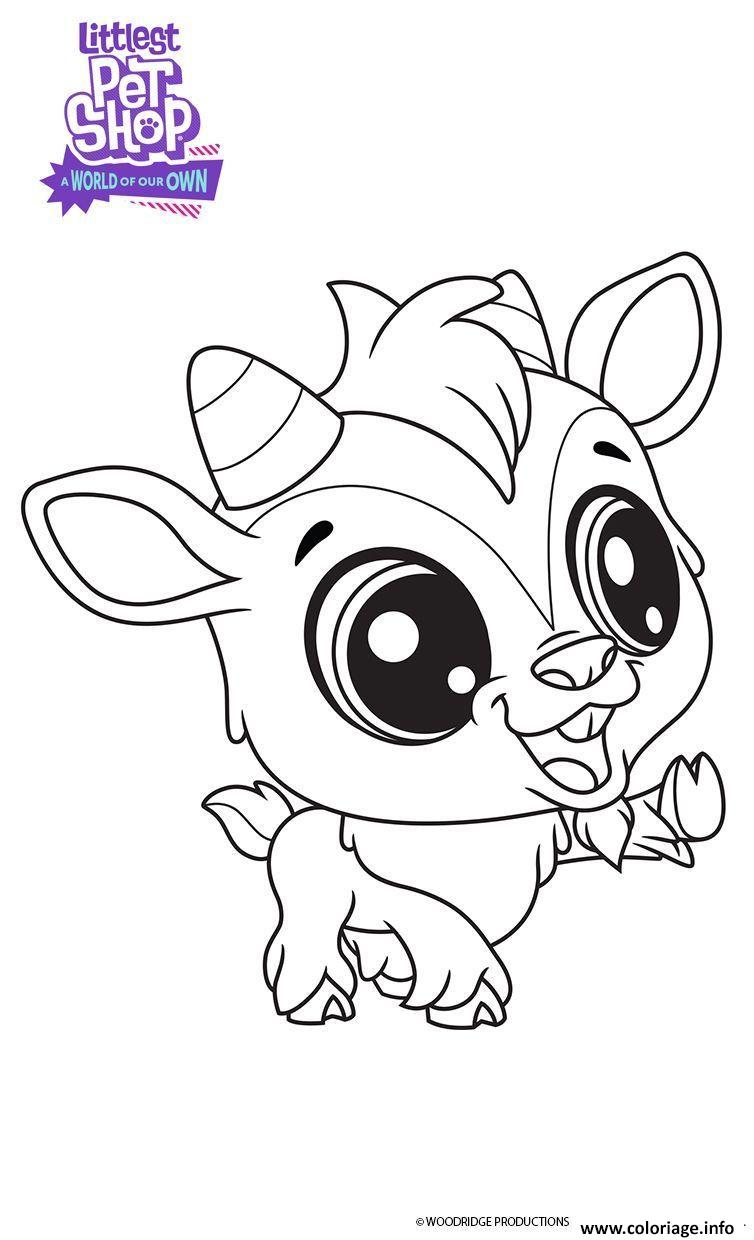 Coloriage Quincy Littlest Pet Shop Dessin à Imprimer