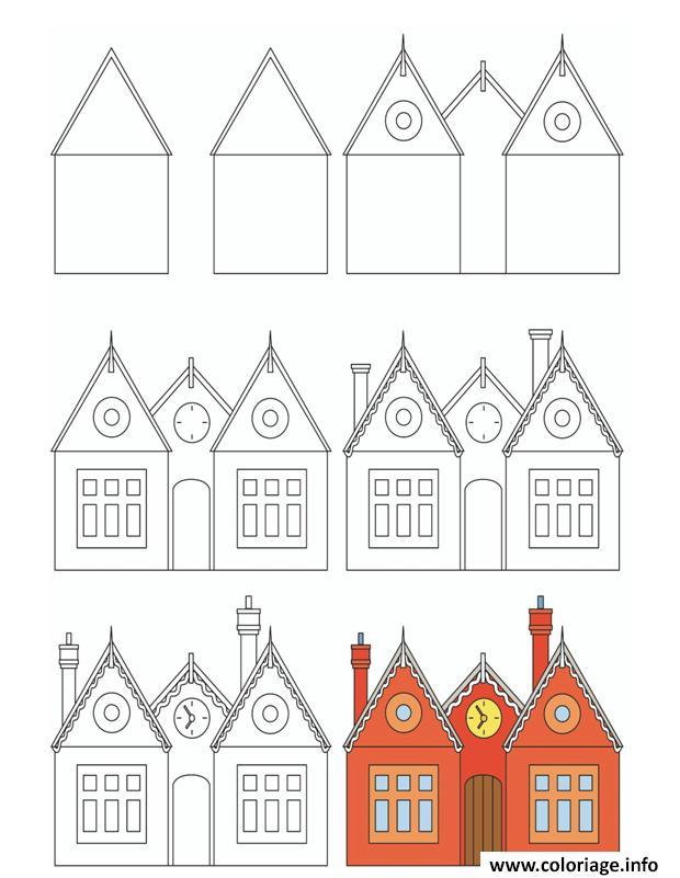 Coloriage Dune Ecole A Imprimer.Coloriage Comment Dessiner Une Ecole Dessin
