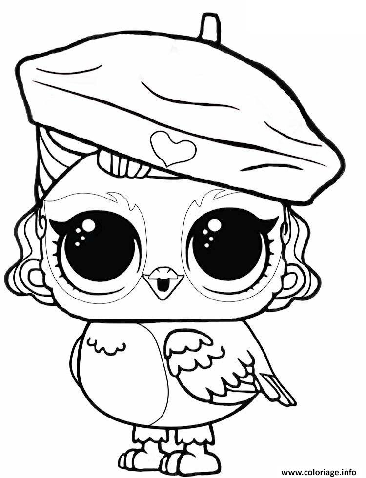 Dessin angel with eye spy LOL Ruprise Pets Coloriage Gratuit à Imprimer