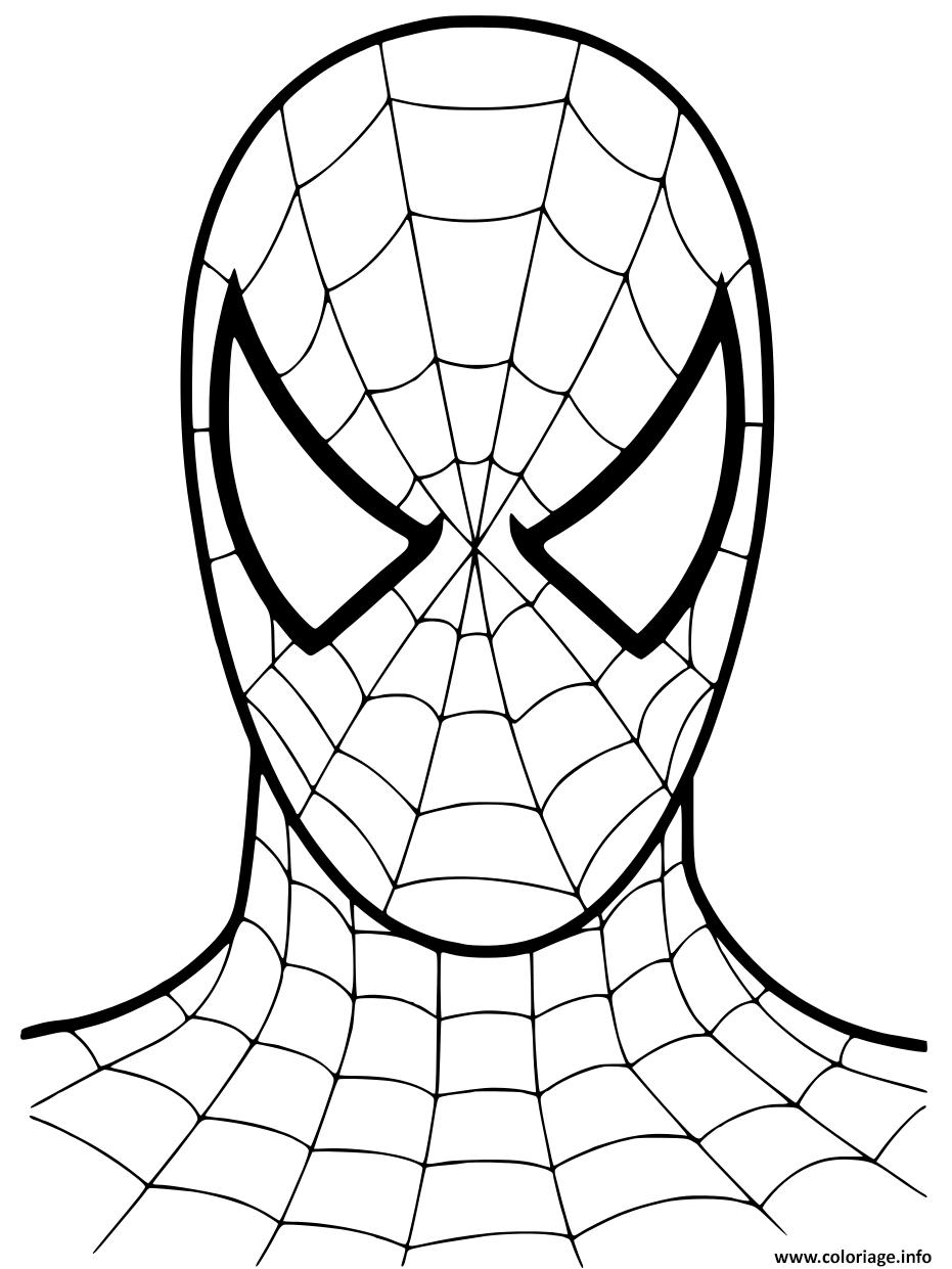Dessin Spiderman Cartoon Mask 2002 Coloriage Gratuit à Imprimer