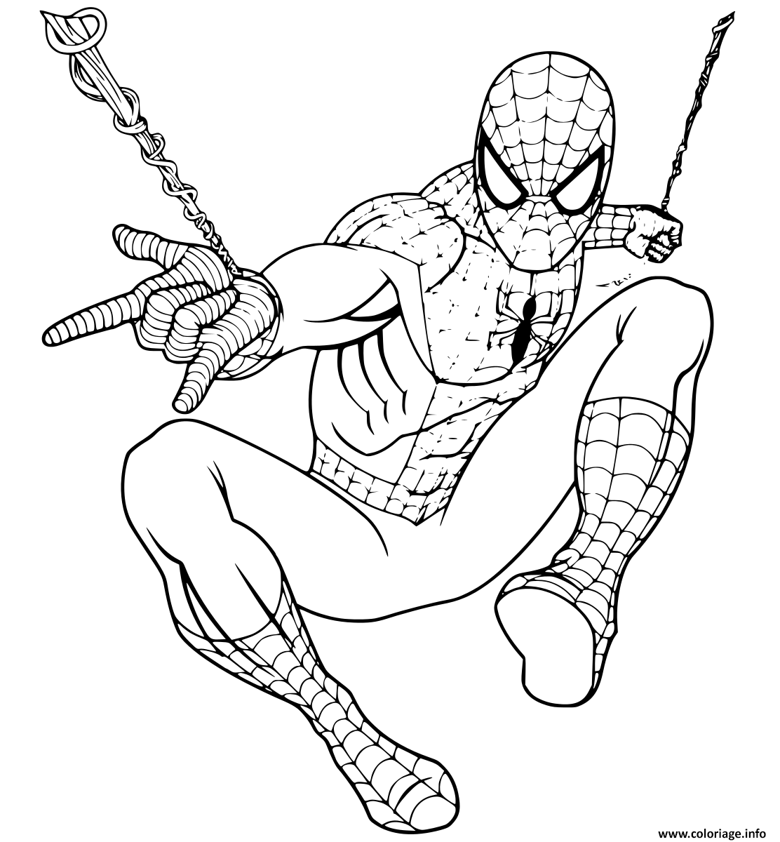 Coloriage Spiderman Returning To Marvel Universe Dessin à Imprimer