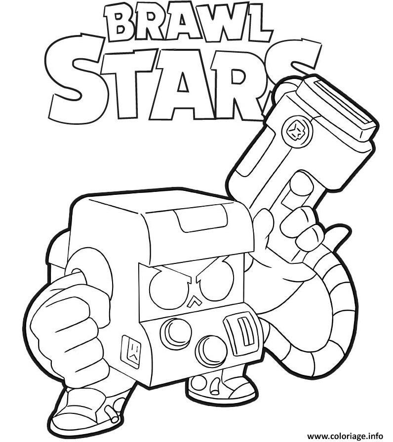 Coloriage 8 Bit Brawl Stars Dessin