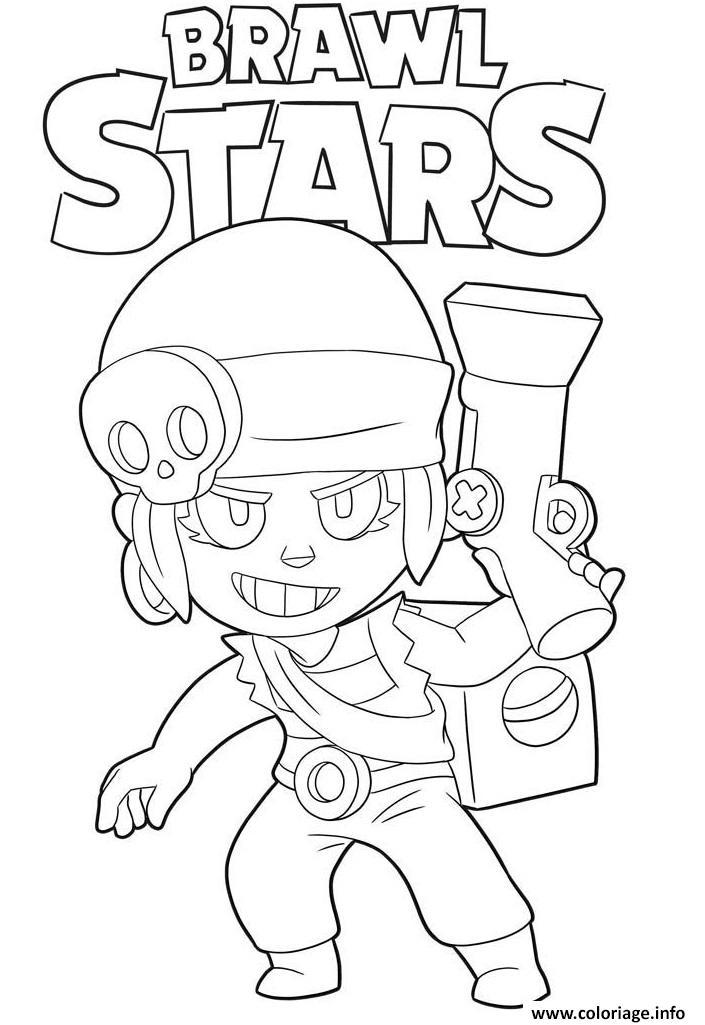 Coloriage Penny Brawl Stars dessin