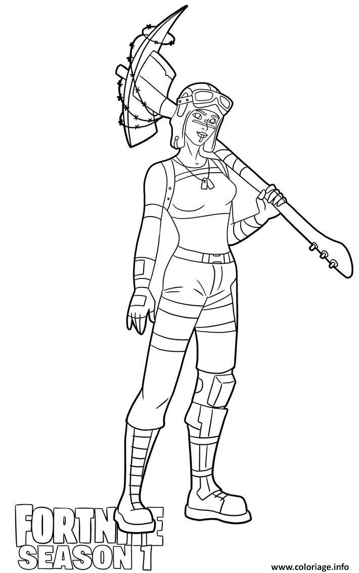 Coloriage Renegade Raider Skin From Fortnite Season 1 Dessin Fortnite A Imprimer