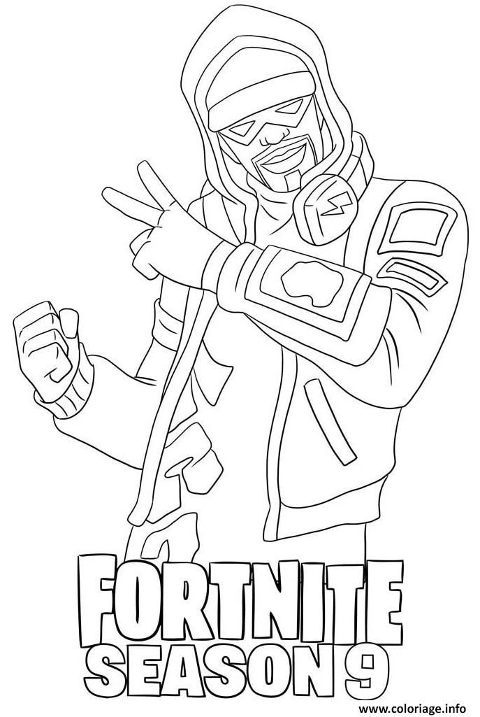 Coloriage Stratus Skin From Fortnite Season 9 Jecolorie Com