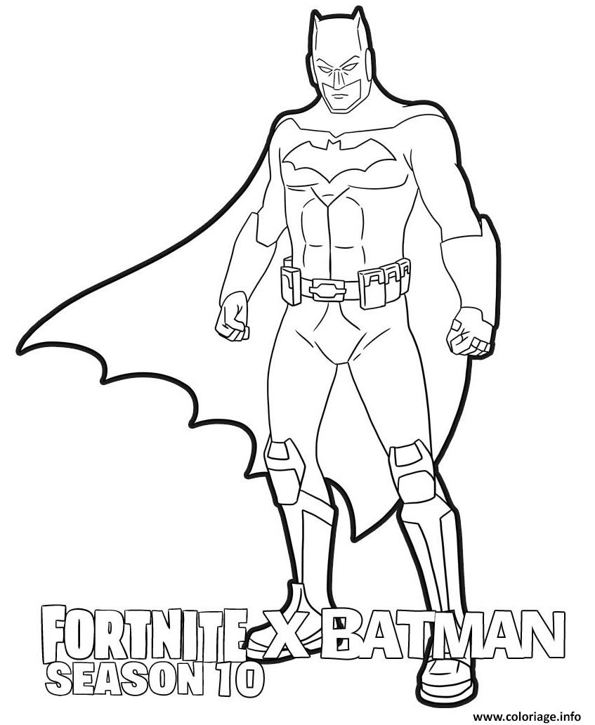 Coloriage Fortnite X Batman Season 10 Dessin