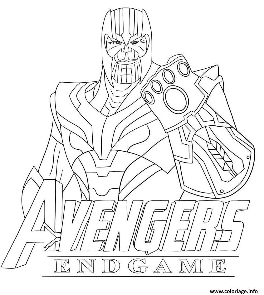 Coloriage Thanos Avengers Endgame Skin From Fortnite dessin