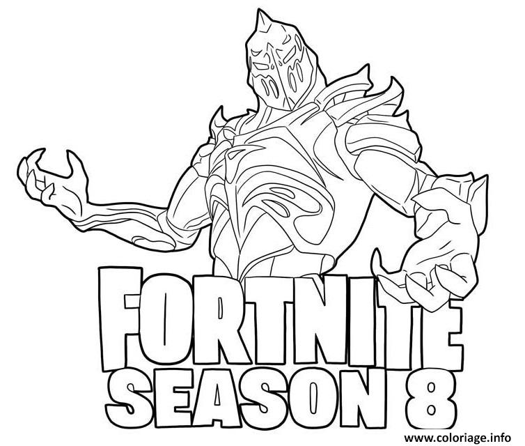 Coloriage Ruin And Season 8 Logo Fortnite Dessin à Imprimer